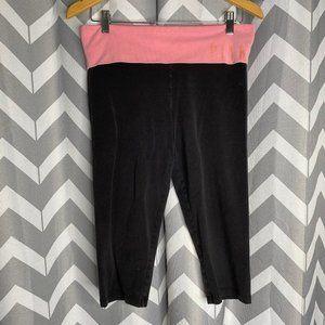 PINK VS black and pink capri pants